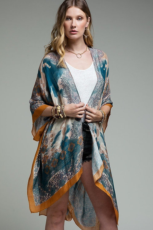 Ava - Rust Mandala Kimono