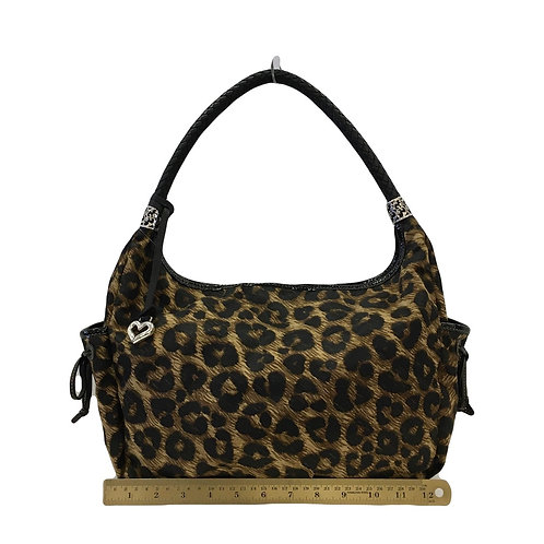 Animal Print Nylon Brighton Shoulder Bag