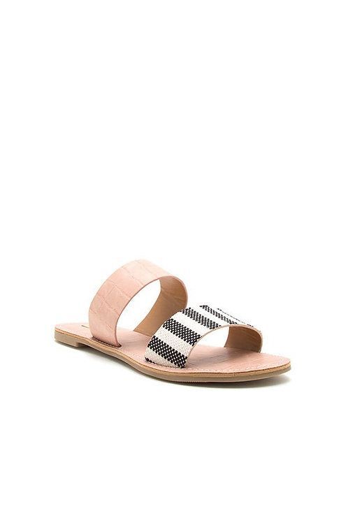 Blush + Stripe Sandals