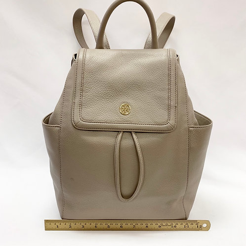 Taupe Leather Tory Burch Backpack