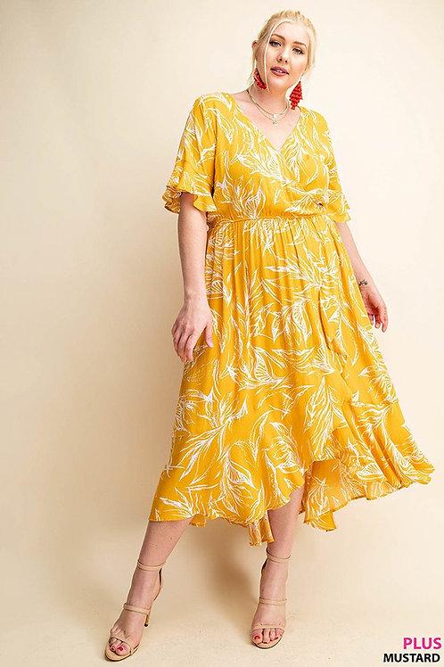 PLUS // YELLOW FLORAL DRESS