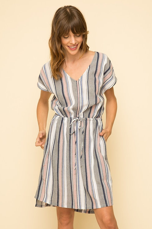 Stripe Cinched Dress