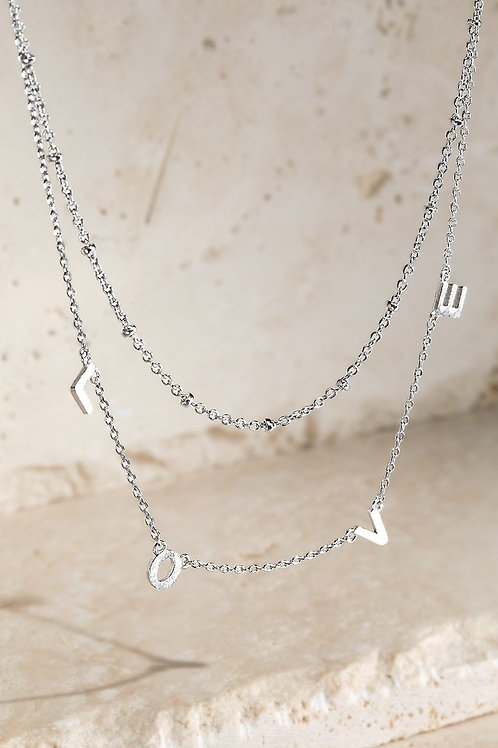 LOVE Double Layered Necklace