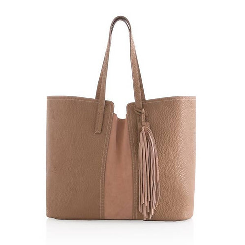 Tan Tote with Tassel