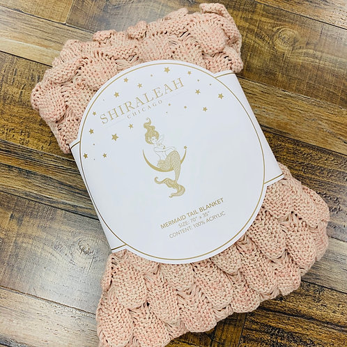 Chunky Knit Mermaid Tail Blanket