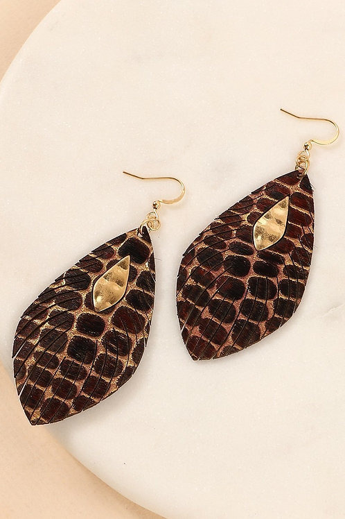 Reptile Feather Earring