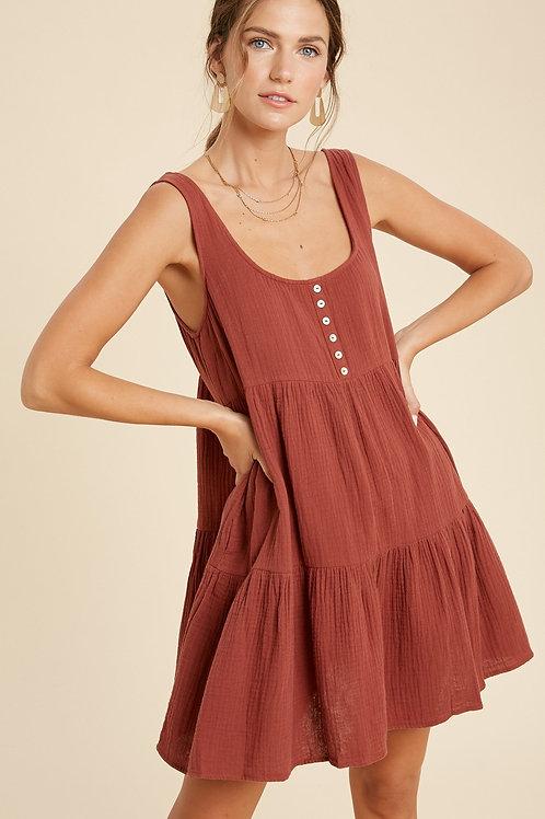 Burl Wood Babydoll Dress