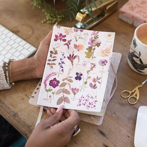 White Floral Sketchbook
