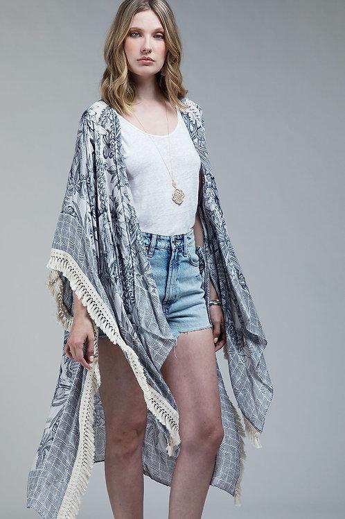 One Size Grey Kimono