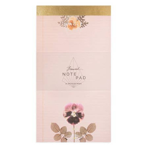 Pink Pansy Notepad