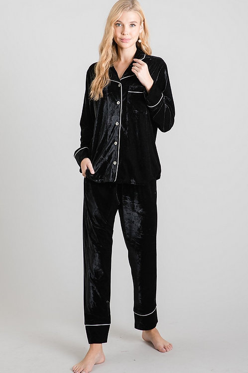 Black Velvet Pajamas