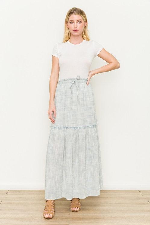 Tiered Light Blue Skirt
