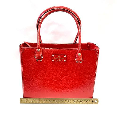 Red Leather Kate Spade Handbag