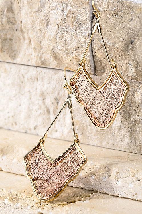 Gold/Rose Gold Earrings