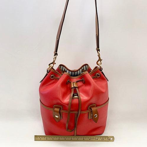Red Drawstring Dooney & Bourke ($245)