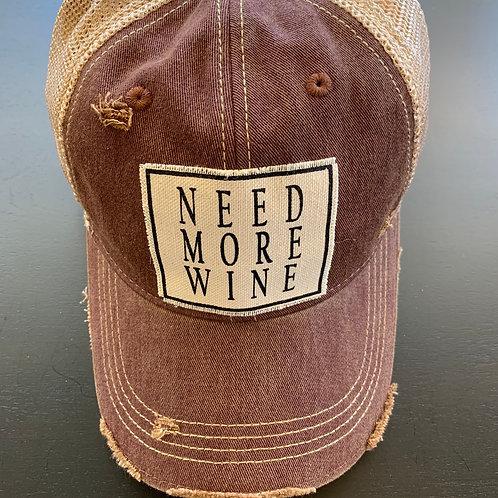 Need More Wine Baseball Cap