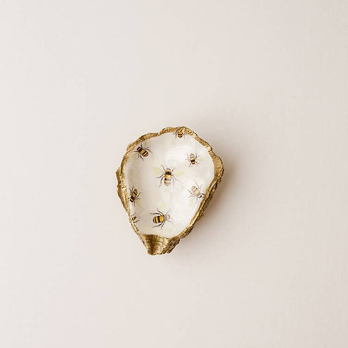 Bumble Bee Oyster Shell Jewelry Dish