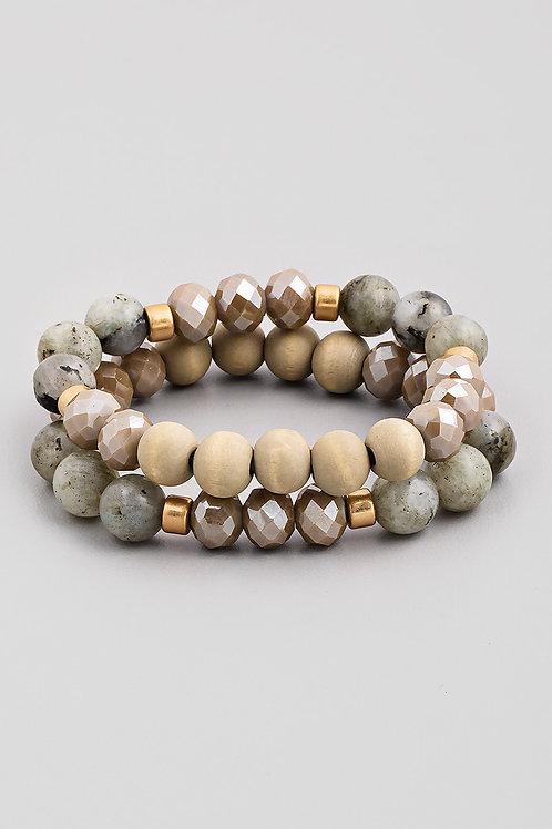 Grey Beaded Bracelet