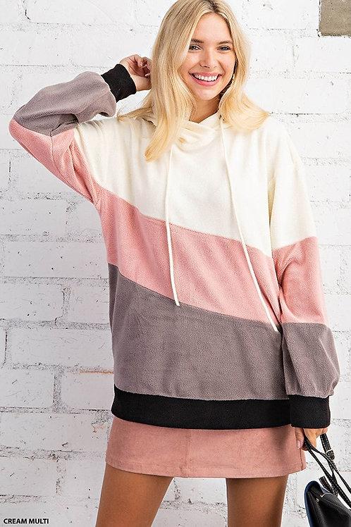 Cozy Cream Color Block Pullover