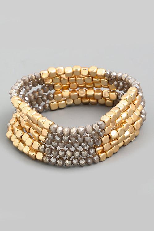 Mocha Stretch Bracelet Set