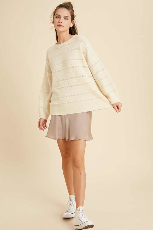 Cream Mohair Pullover Sweater