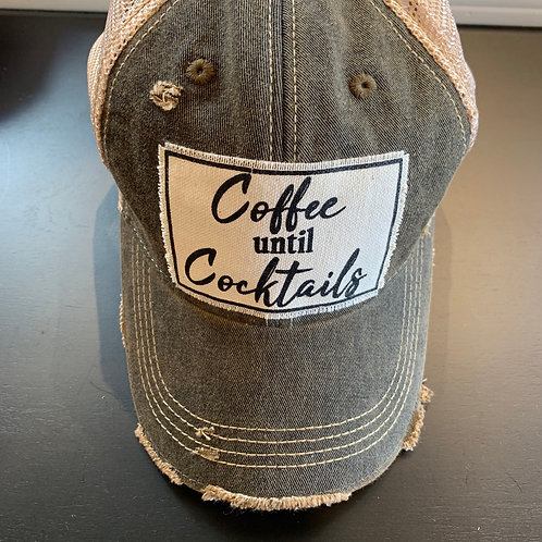 Coffee Until Cocktails Baseball Cap