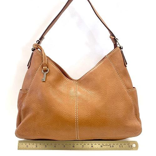 Camel Leather Fossil Shoulder Bag
