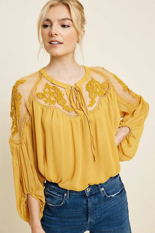 Elodie - Honey Lace Blouse