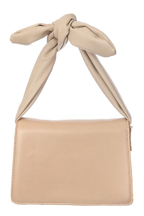 Beige Knot Handbag