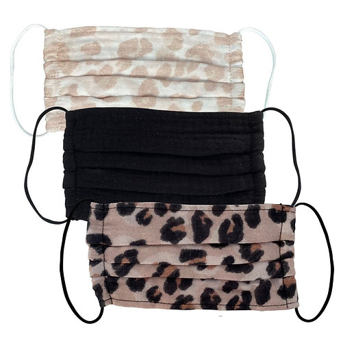 Leopard Cotton Mask Set of 3