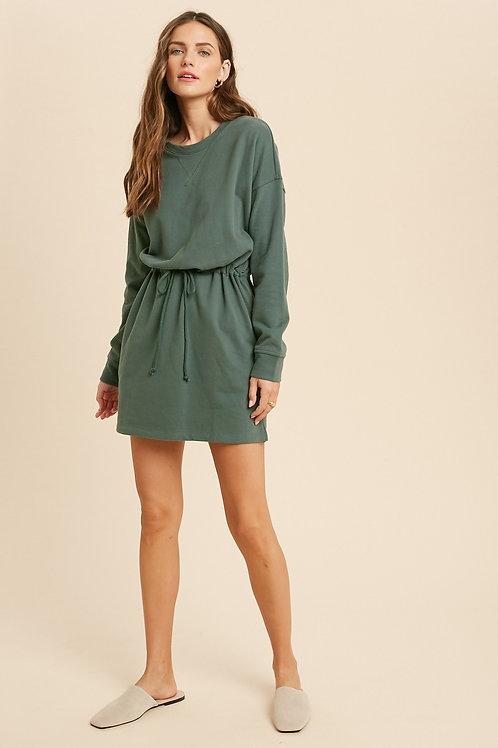 Teal Green Knit Dress