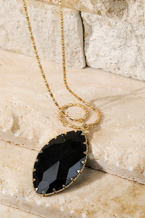 Black Stone Necklace