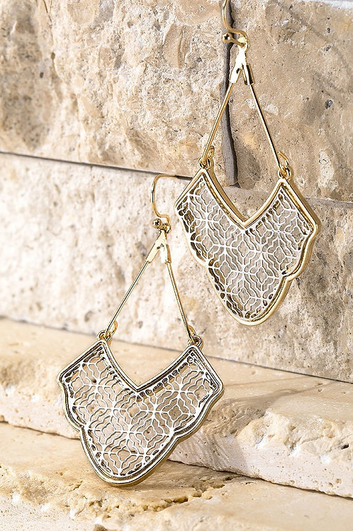Silver & Gold Filigree Earrings