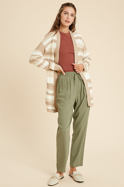 Olive Drawstring Pants
