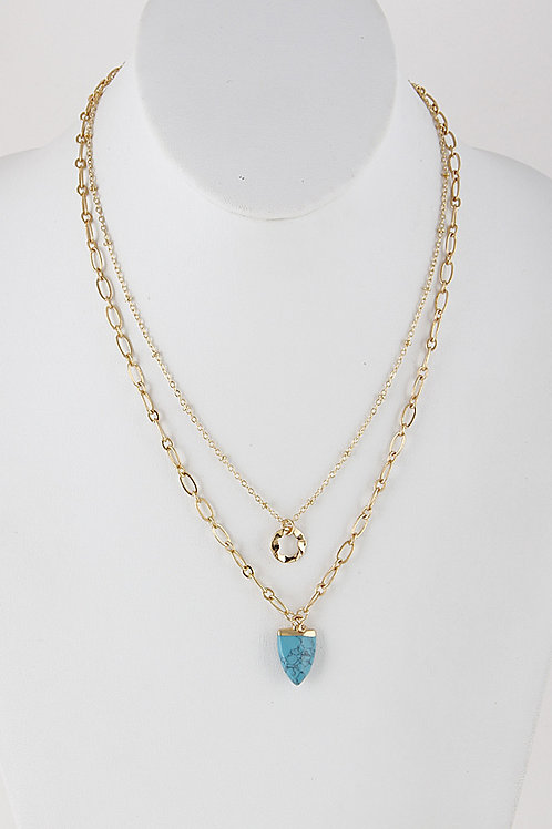 Turquoise Arrow Layered Necklace