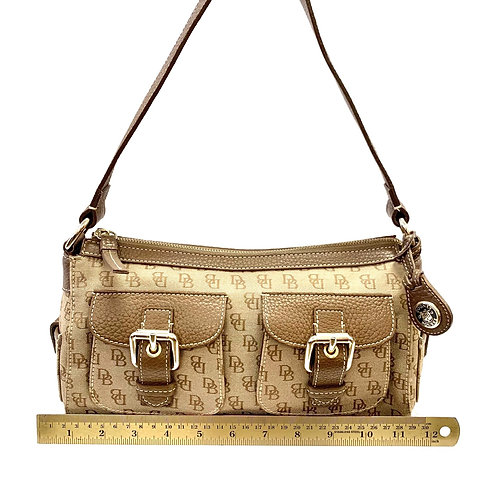 Tan Monogram Dooney & Bourke