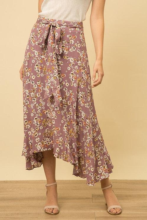 Dusty Purple Floral Skirt