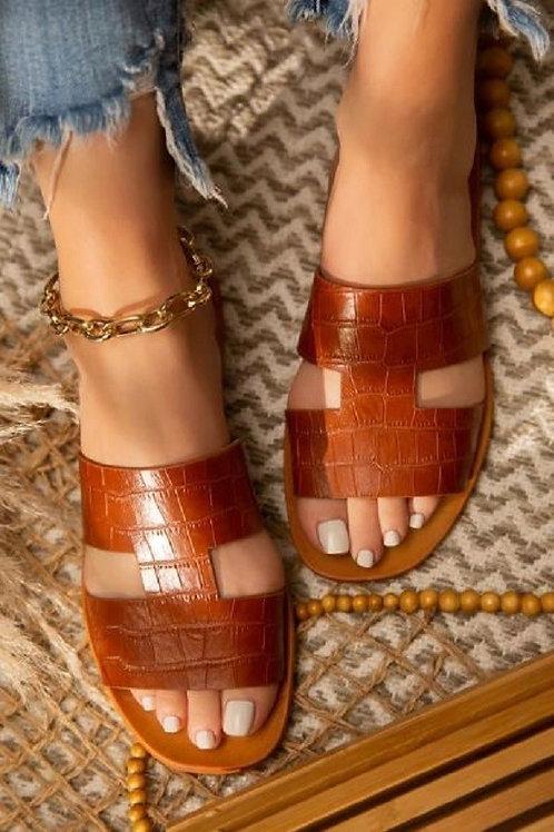 Camel Croc Sandal