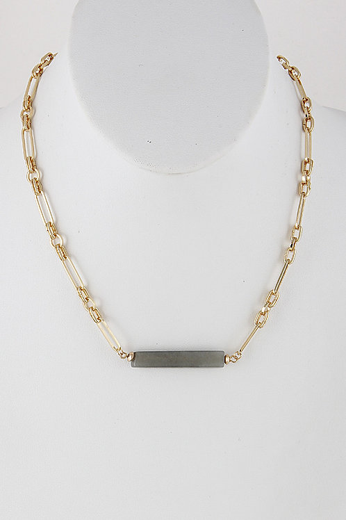 Grey Chainlink Short Necklace