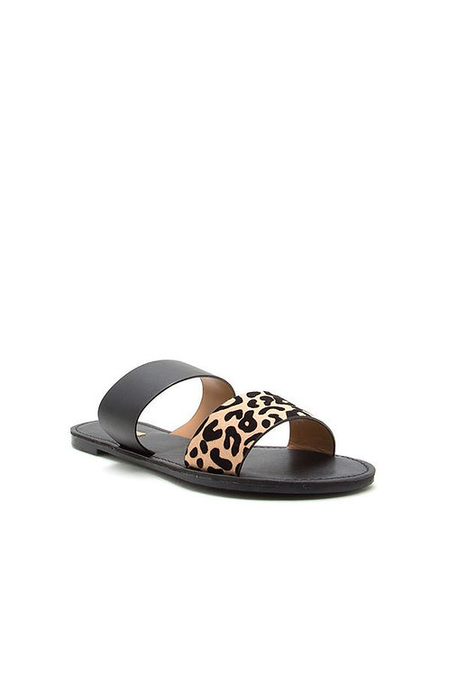 Animal Print + Black Sandal