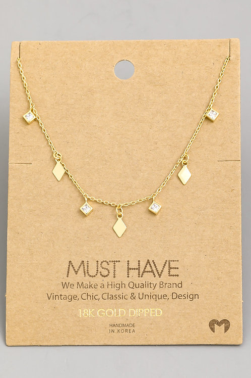 Gold Dainty Short Necklace