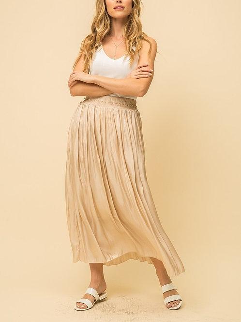Beige Crinkle Skirt