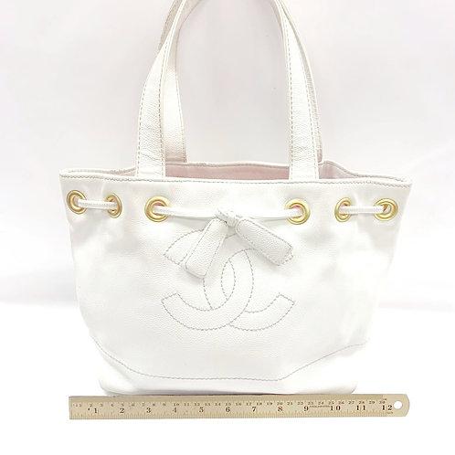 White Vintage CC Drawstring Chanel