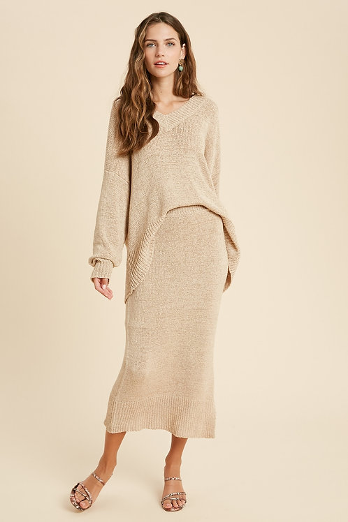 Taupe Knit Skirt