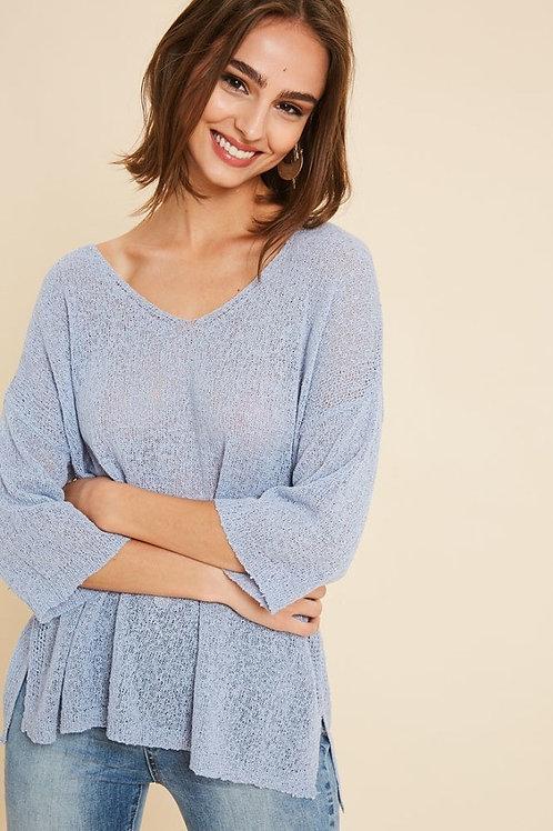 Blue Light Weight Sweater