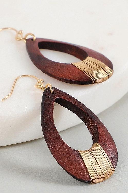Wire + Wood Earrings
