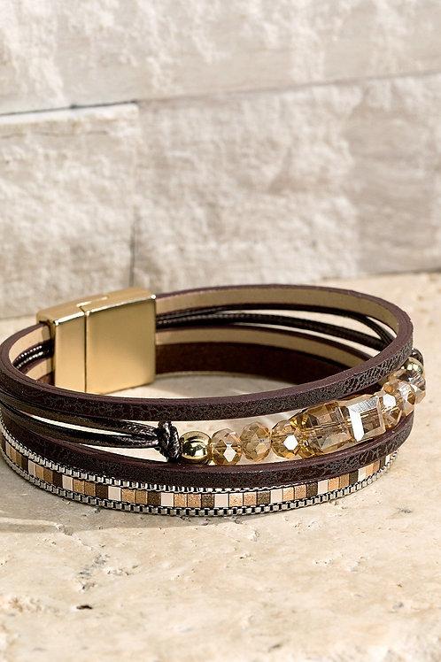 Brown Magnetic Bracelet