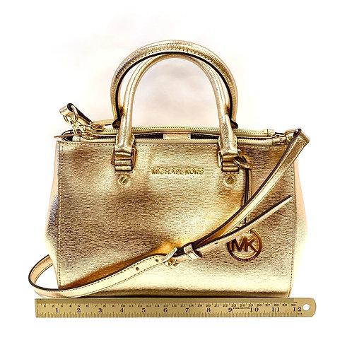 Gold Leather Michael Kors Handbag