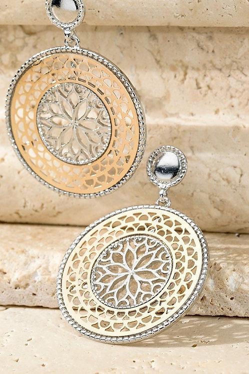 Round Lattice Earrings