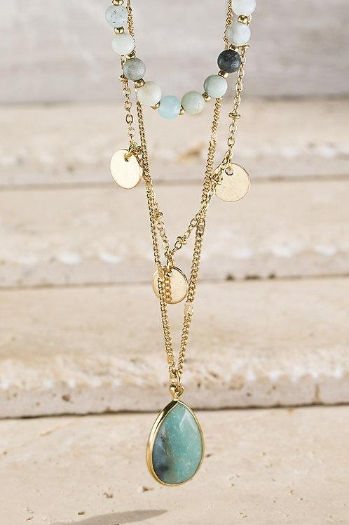 Layered Amazonite Necklace